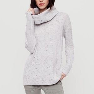 Lou & Grey Speckled Cowl Neck Sweater